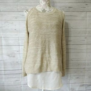 She And Sky Anthropologie Sweater Cold Shoulder